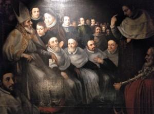 """""""Las predicaciones de San Vicente"""" de Antonio Bisquert. Siglo XVII."""