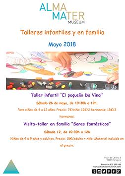Talleres infantiles y en familia mayo 2018