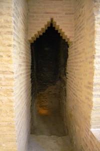 Espacio cubierto con bóveda por aproximación de hiladas.