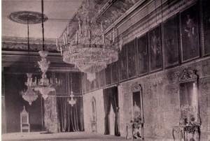 Salón del Trono del palacio arzobispal a finales del siglo XIX.