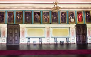 Salón del Trono en la actualidad, con su galería de retratos.