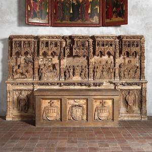Predela del retablo de la capilla del siglo XV del palacio arzobispal de Zaragoza. Actualmente conservada en el Museo de los Claustros, en Nueva York.