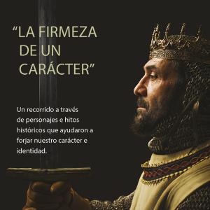 Detalle de Alfonso I del video Identitas que se exhibe en el Alma Mater Museum.