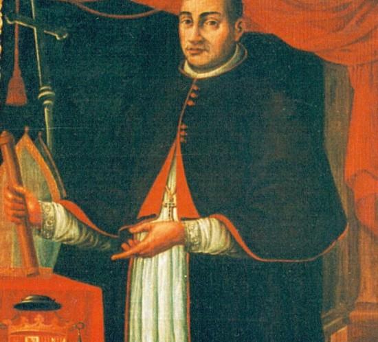 Retrato del arzobispo Hernando de Aragón (1539-1575) en la galería del salón del Trono del palacio arzobispal.