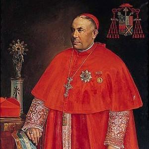 Detalle del retrato del cardenal arzobispo Juan Soldevila, realizado en a principios del siglo XX por Gabriel Palenica.