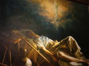 """""""Milagro de Calanda""""  por sor Isabel Guerra,  en la Basílica de Nuestra Señora del Pilar."""