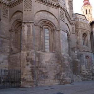 Fotografía de la cabecera románica de la iglesia de San Salvador de Zaragoza.